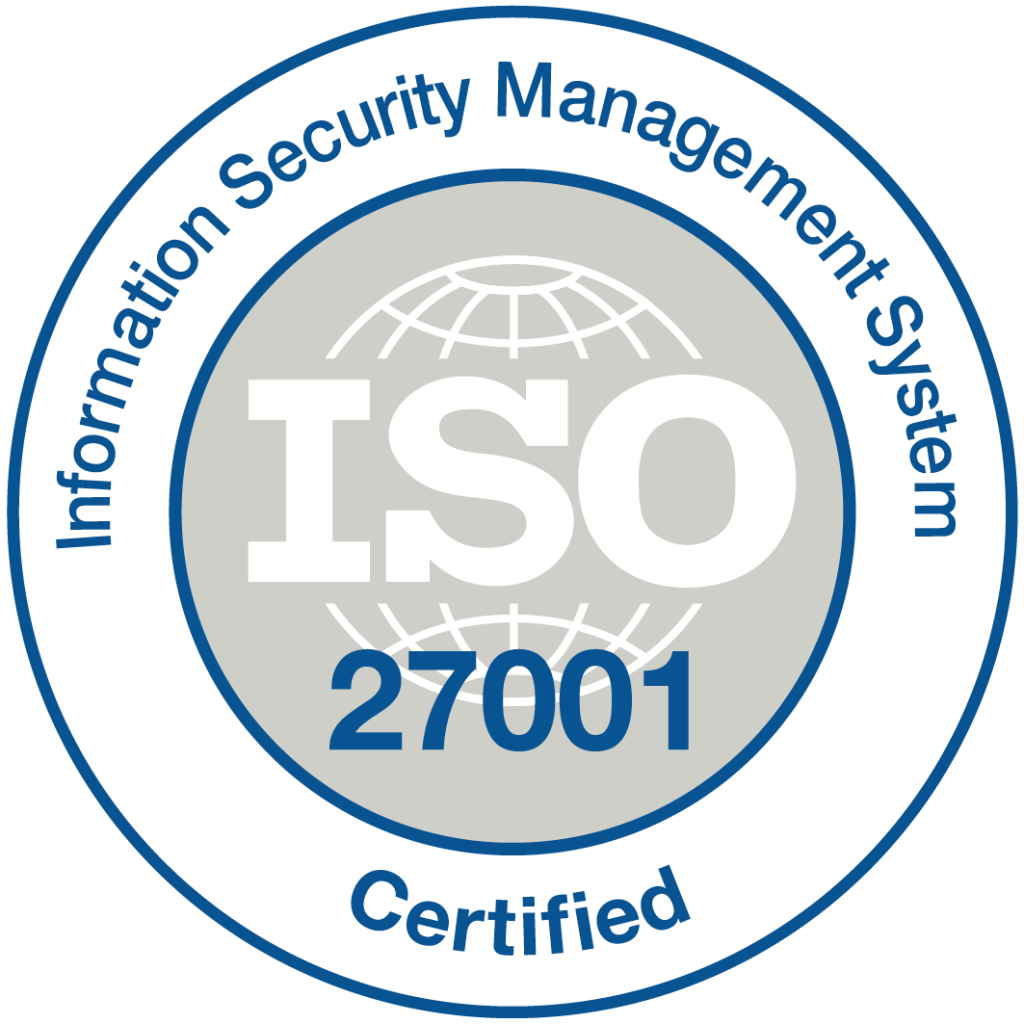 ISO 27001 Certified